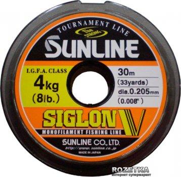 Леска Sunline Siglon V 30 м #1.5/0.205 мм 4 кг (16580492)