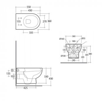 Унитаз подвесной RAK Ceramics Tonique TQ13AWHA безободковый