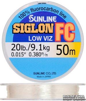 Леска Sunline SIG-FC 50 м 0.38 мм 9.1 кг Поводковая (16580144)