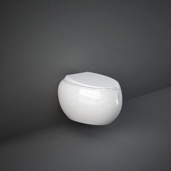 Унитаз подвесной, безободковый RAK Ceramics CLOUD CLOWC1446AWHA , белый глянец
