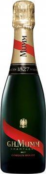 Шампанське Mumm Cordon Rouge Brut біле брют 0.375 л 12% (3043700103821)