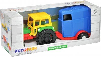 Трактор Tigres с прицепом в коробке (39009 Конярка)