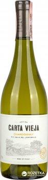 Вино Carta Vieja Chardonnay белое сухое 0.75 л 13% (7804310010185)