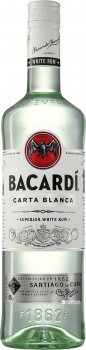 Ром Bacardi Carta Blanca від 6 місяців витримки 0.5 л 40% (5010677013918)