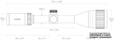 Оптичний приціл Hawke Vantage 3-9x50 AO Mil Dot (922127)