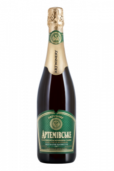 Вино игристое Артемовское мускатное белое полусухое 0.75 л 10-13.5% (4820003352076)