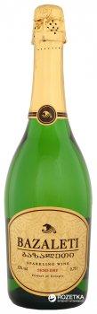 Вино игристое Bazaleti белое полусухое 0.75 л 12% (4867616022613)