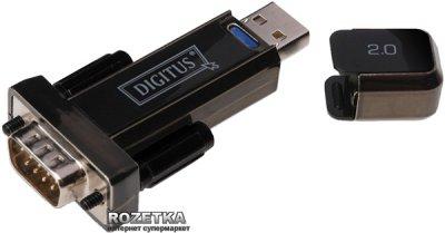 Адаптер Digitus USB to RS232 Black (DA-70156)