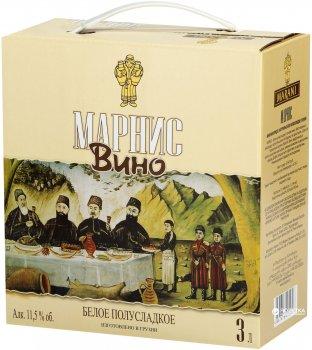Вино Марани Марнис белое полусладкое 3 л 12% (4867616090056)