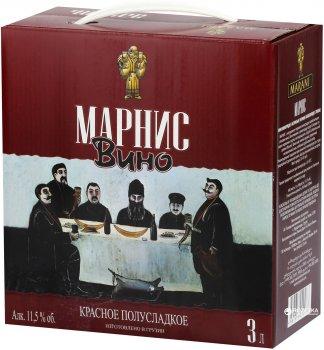 Вино Марани Марнис красное полусладкое 3 л 12% (4867616090063)