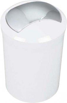 Відро для сміття Spirella Plastic Malibu 30x19 см Біле (10.01769)