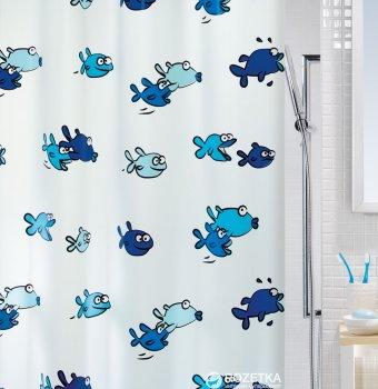 Шторка для ванної Spirella Hugo 180x200 PVC Блакитна (10.01951)