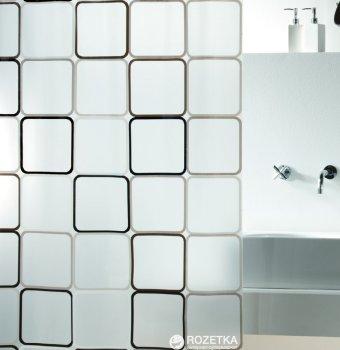 Шторка для ванної Spirella Frame 180x200 Peva Чорна (10.01942)