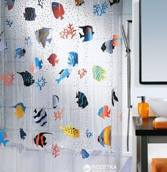 Шторка для ванної Spirella Fish 180x200 PVC Рiзнокольорова (10.21960)