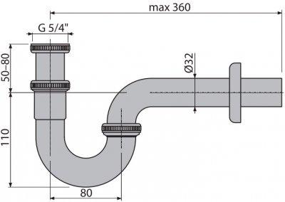 Сифон для раковины ALCA PLAST A432 (8594045930672)