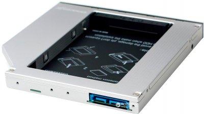 """Адаптер Grand-X для підключення HDD 2.5"""" в відсік приводу ноутбука SATA3 (HDC-27)"""