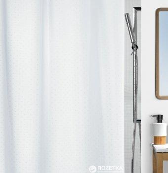 Шторка для ванної Spirella Ricco 180x200 Polyester Бiла (10.43814)