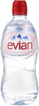 Упаковка минеральной негазированной воды Evian Sport 0.75 л х 6 бутылок (3068320014067_3068320105314)
