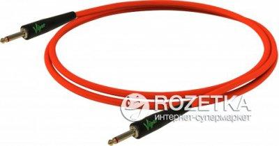 Інструментальний кабель Bespeco VIPER300 3 м Fluorescent Red (23-2-4-35)