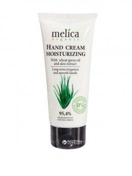 Увлажняющий крем для рук Melica Organic с маслом зародышей пшеницы и экстрактом алоэ 100 мл (4770416342198)