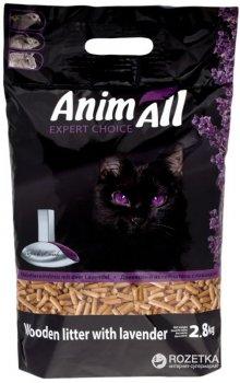 Наполнитель универсальный для котов, грызунов и птиц AnimAll с ароматом Лаванды Древесный впитывающий 2.8 кг (9 л) (2000981037963)