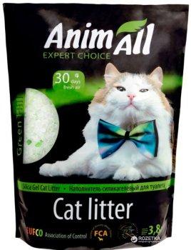 Наполнитель для кошачьего туалета AnimAll Зеленый холм Силикагелевый впитывающий 1.6 кг (3.8 л) (2000981033453)