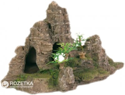Грот Trixie Скалы с пещерой и растениями 22 см 8853 (4011905088532)