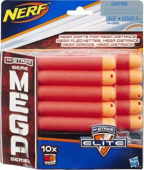 Комплект из 10 стрел для бластеров Hasbro Nerf N-Strike Elite Mega (A4368)