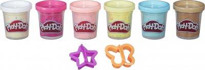 Набір пластиліну Play-Doh 6 баночок з конфетті (B3423)