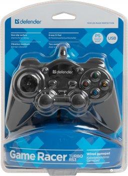 Проводной геймпадDefender Game Racer Turbo RS3 PC/PS2/PS3 Black (64251)
