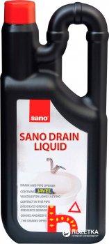 Засіб для очищення водостоків Sano Drain Liquid 1 л (7290012117916)