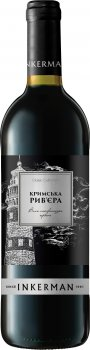 Вино Inkerman Крымськая Рів'єра червоне напівсолодке 0,75 л. 9-13% (4820003751657)