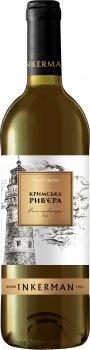 Вино Inkerman Крымськая Рів'єра біле напівсолодке 0,75 л. 9-13% (4820003751633)