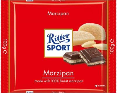 Шоколад Ritter Sport Чорний з начинкою марципан 100 г (4000417025005_336464)