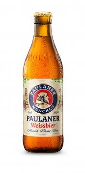Упаковка пива Paulaner Weissbier светлое нефильтрованное 5.5% 0.5 л x 20 шт (4066600060925)