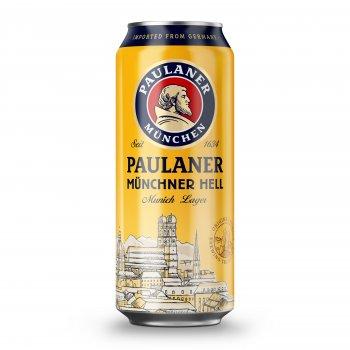Упаковка пива Paulaner Original светлое фильтрованное 4.9% 0.5 л x 24 шт (4066600211815)
