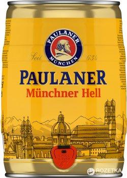 Пиво Paulaner Original світле фільтроване 4.9% 5 л  (4066600101635)