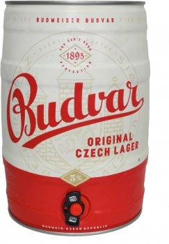 Пиво Budweiser Budvar светлое фильтрованное 5% 5 л  (8594403310184)