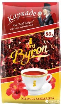 Упаковка чая красного Лорд Байрон Каркаде Крупнолистовой 80 г х 10 шт (4820053771674)