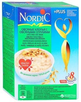 Пластівці вівсяні NordiC з вівсяними висівками 600 г (6416597838461)