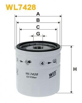 Фильтр масляный WIX WL7428 - FN OP570/1