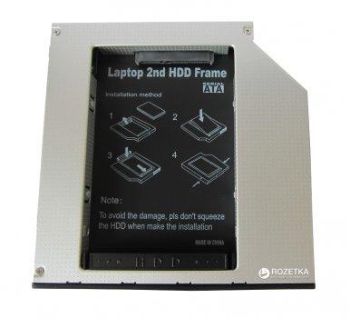 """Адаптер Maiwo для підключення 2.5 """" HDD / SSD SATA в відсік приводу ноутбука IDE 12.7 мм (NSTOR-12-IDE)"""