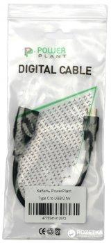 Kабель PowerPlant USB 3.0 F - USB Type-C 0.1 м (KD00AS1257)