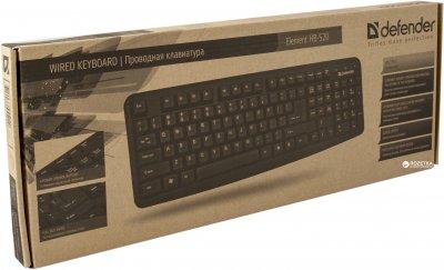 Клавиатура проводная Defender Element HB-520 PS/2 (45520)
