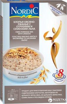 Хлопья овсяно-ржаные NordiC с отрубями и семенами льна 600 г (6411200106715)