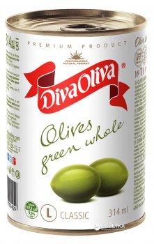 Оливки зелені з кісточкою Diva Oliva 300 г (5060162901459 / 8436024291902)