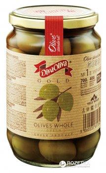 Оливки зеленые с косточкой Diva Oliva Gold 720 мл (5060235651342)