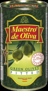 Оливки зеленые без косточки Maestro de Oliva 350 г (8436024290295)