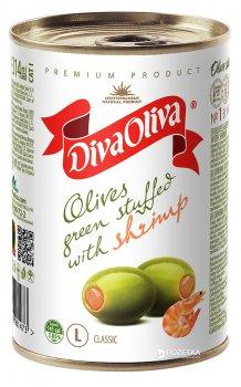 Оливки зеленые с креветкой Diva Oliva 300 г (5060162901473 / 8436024291926)