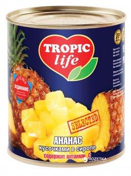 Ананас кусочками в сиропе Tropic Life 850 мл (4820086920094 / 5060162900292)